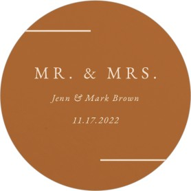Adorable Duo Wedding Coasters