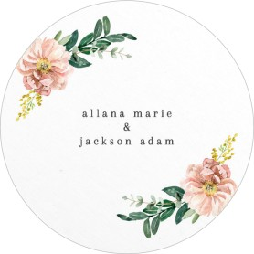 Delicate Florals Wedding Coasters