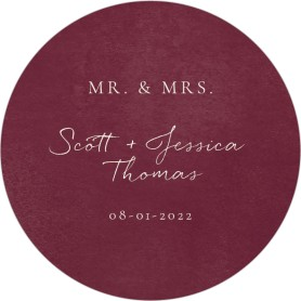 Floral Touch Wedding Coasters