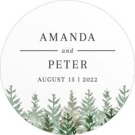 Ethereal Evergreens Wedding Coasters