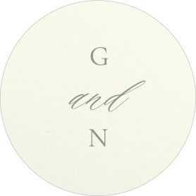Minimalist Type Wedding Coasters