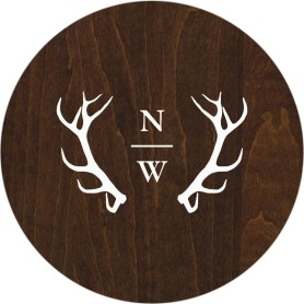 Rustic Antler Wedding Coasters