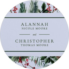 Festive Celebration Wedding Coasters