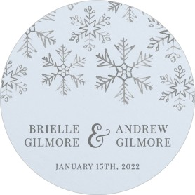 Sweet Snowflakes Wedding Coasters