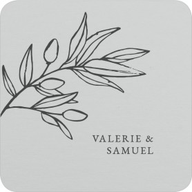Branch Sketch Wedding Coasters
