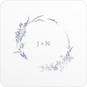 Dainty Wreath Wedding Coasters