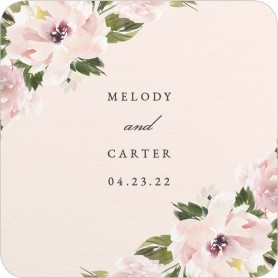 Sweet Floral Wedding Coasters