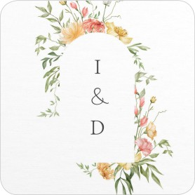 Secluded Blooms Wedding Coasters
