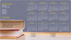 Books & Blackboard School Calendar Magnets