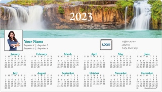 Refreshing Falls Full Magnet Calendars