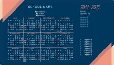 Sharp Schedule (July Start) School Calendar Magnets