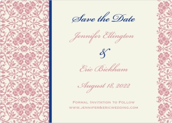 Floral Ornament Save the Date Magnets