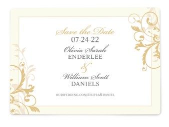 Classic Allure Save the Date Magnets