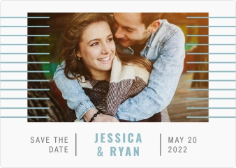 Luxe Lines Save the Date Magnets