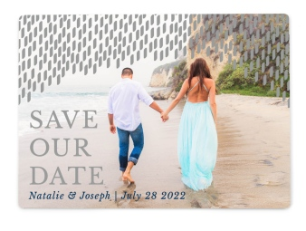 Modern Dash Save the Date Magnets