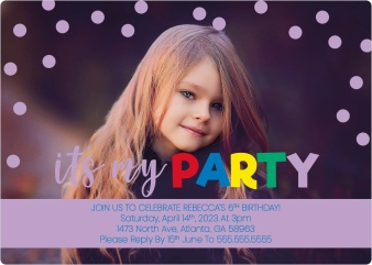 Dotted Delight Birthday Party Invitations
