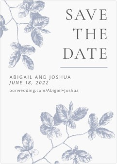 Leafy Elegance Save the Date Magnets