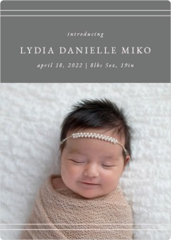 Simple Stripes Birth Announcement Magnets