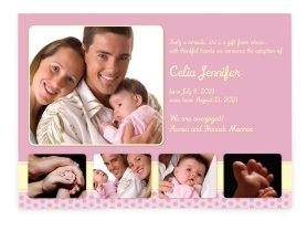 Miracle Adoption Announcement Cards