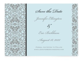 Floral Ornament Save the Date Cards