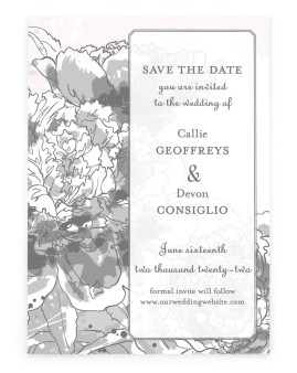 Watercolor Bloom Save the Date Cards