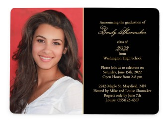 Head of the Class Graduation Announcement Cards