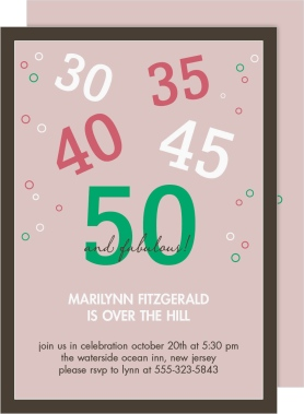 50 and Fabulous Birth Announcement Cards