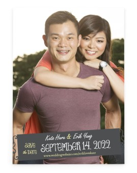 Chalk it up to Love Save the Date Cards