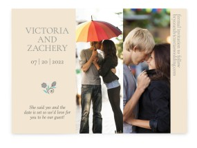 For You With Love Save the Date Cards