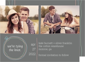 Simple Knot Save the Date Cards
