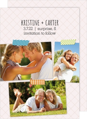 Washi Photo Collection Save the Date Cards