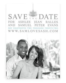 French Damask Save the Date Cards