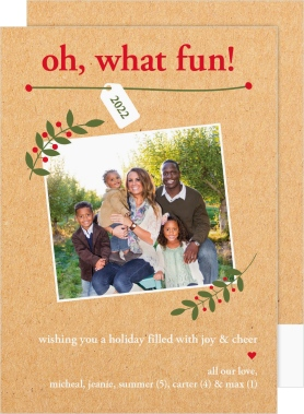 Holly Fun Large Cards