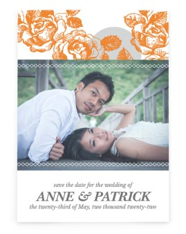 Bed of Roses Save the Date Cards