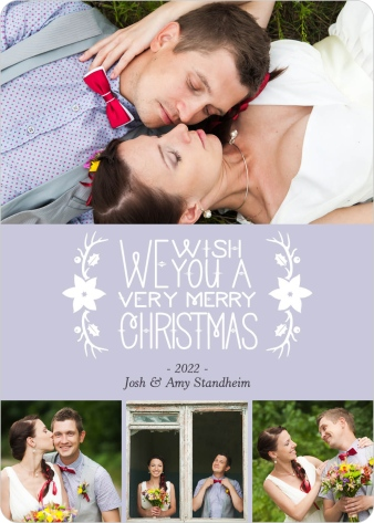 Wishes for Christmas Wedding Christmas Cards