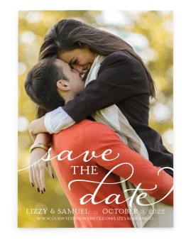 Scripted Embrace Save the Date Cards