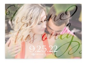 Her One His Only Save the Date Cards