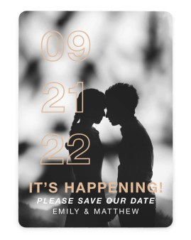It's Happening! Save the Date Cards