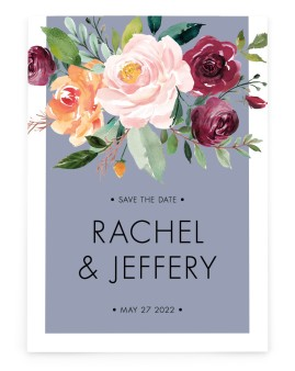 Country Florals Save the Date Cards
