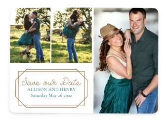 Gorgeously Geo Save the Date Cards