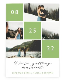 Photo Patchwork Save the Date Cards