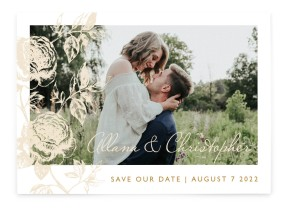 Stamped Elegance Save the Date Cards