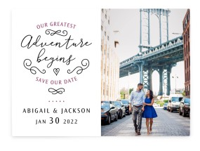Greatest Adventure Save the Date Cards