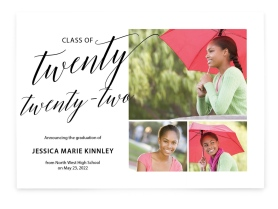 Classy Collage Graduation Announcement Cards
