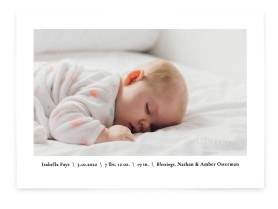 Everything Nice Birth Announcement Cards