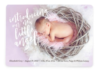 Heavenly Intro Birth Announcement Cards