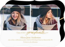 Shining Grad Graduation Announcement Cards