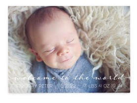 Welcome Sweetheart Birth Announcement Cards