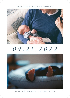 Whimsy Welcome Birth Announcement Cards