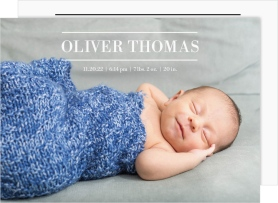 Grand Introduction Birth Announcement Cards